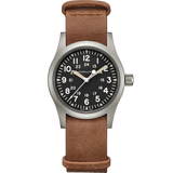 Hamilton Khaki Field Mechanical Brown Leather Strap Men's Watch H69439531