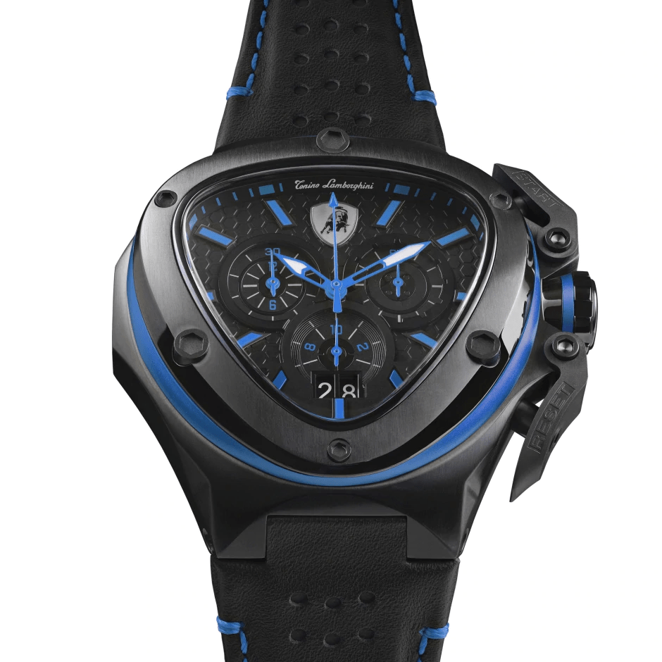 Tonino Lamborghini Spyder X Chronograph Black-Blue Men's Watch T9XC