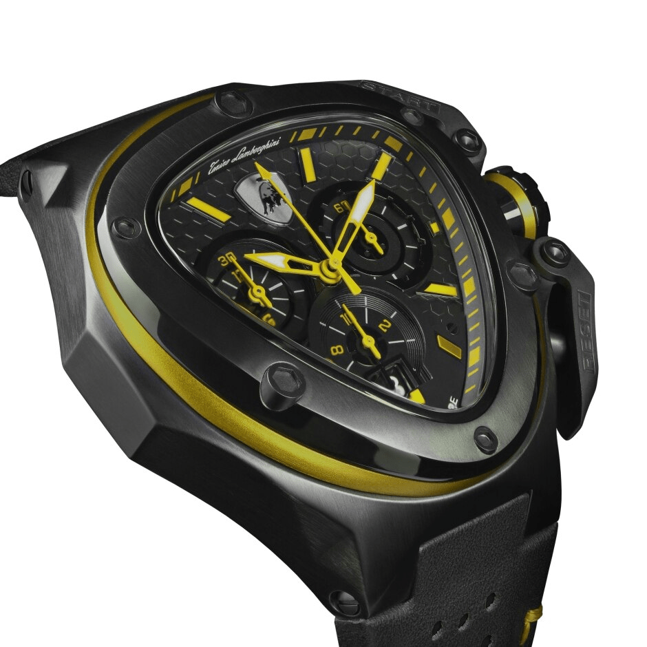 Tonino Lamborghini Spyder X Chronograph Black-Yellow Men's Watch T9XE