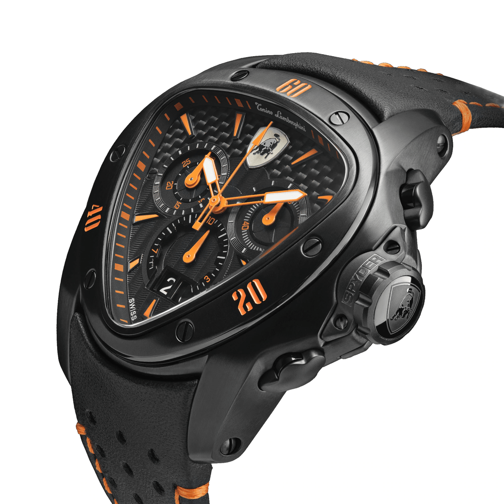 Tonino Lamborghini Spyder Chronograph Black-Orange Men's Watch T9SB