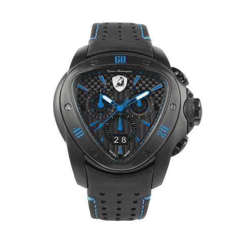 Tonino Lamborghini Spyder Chronograph Black-Blue Men's Watch T9SC