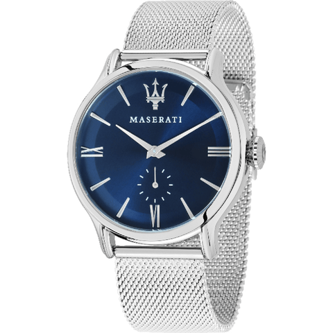 Maserati Epoca 42mm Blue Dial Mesh Strap Men's Watch R8853118006