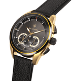 Maserati Traguardo Chrono Black-Gold Leather Strap Men's Watch R8871612033