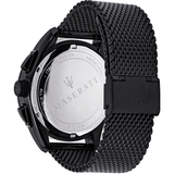 Maserati Traguardo Black Stainless Steel Mesh Chrono Men's Watch R8873612031