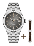 Maurice Lacroix AIKON 42mm Automatic Grey Dial + Extra Strap Men's Watch AI6008-SS002-331-2