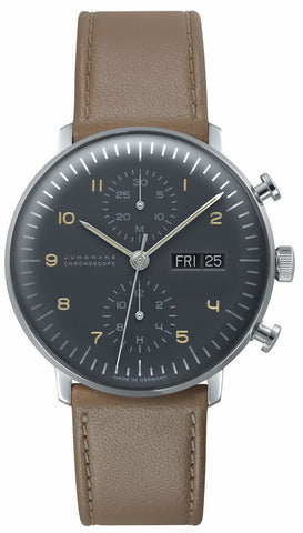 Junghans Max Bill Chronoscope Automatic Grey Dial Men's Watch 027/4501.01