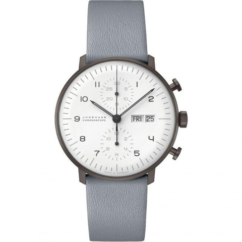Junghans Max Bill Chronoscope English 40mm Men's Watch 027/4008.05