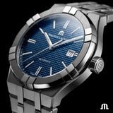 Maurice Lacroix AIKON Automatic 42mm Blue Dial Men's Watch AI6008-SS002-430-1