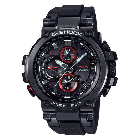 G-Shock MT-G Black - Red Solar Connected Men's Watch MTGB1000B-1A