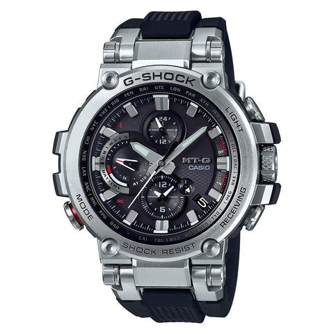 G-Shock MT-G Black - Silver Solar Connected Men's Watch MTGB1000-1A