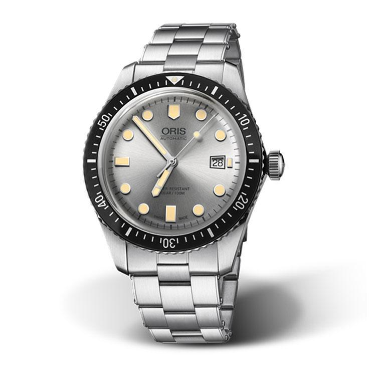 Oris Divers Sixty-Five Silver Dial Stainless Steel Men's Watch 01 733 7720 4051-07 8 21 18