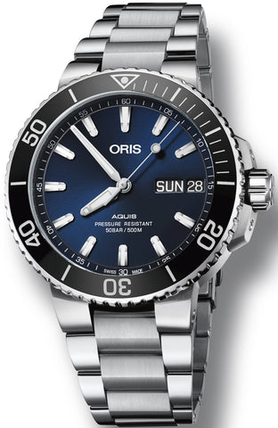 Oris Aquis Big Day Date Stainless Steel Bracelet Men's Watch 01 752 7733 4135-07 8 24 05PEB