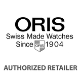 Oris Classic Date Rose Gold Bezel Dark Brown Leather Strap Men's Watch 01 733 7578 4331-07 5 18 10