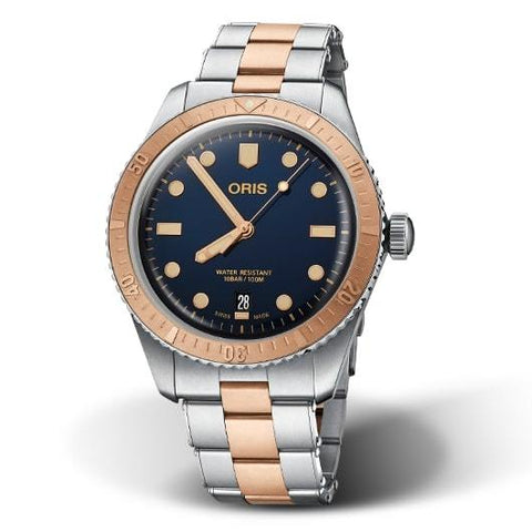 Oris Divers Sixty-Five Bronze Bezel Bronze-Steel Strap Men's Watch 01 733 7707 4355-07 8 20 17