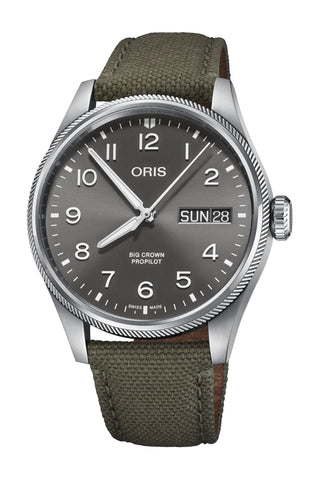 Oris Big Crown ProPilot Big Day Date Olive Strap Men's Watch 01 752 7760 4063-07 3 22 02LC