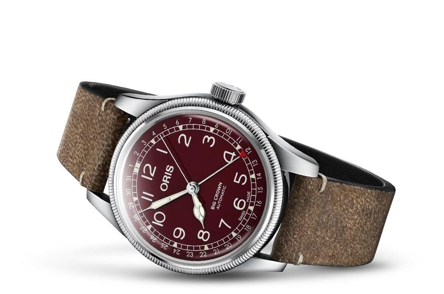 Oris Big Crown Pointer Date Red Dial Leather Strap Men's Watch 01 754 7741 4068-07 5 20 50