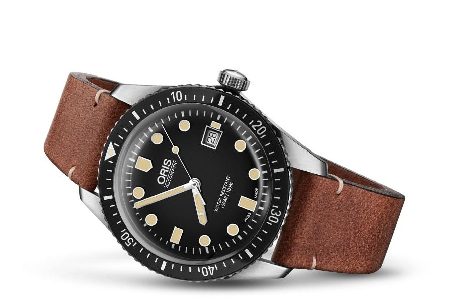 Oris Divers Sixty-Five Brown Leather Band Men's Watch 01 733 7720 4054-07 5 21 45