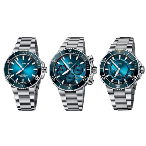 Oris Aquis Divers Ocean Trilogy Set Men's Watch 01 733 7732 4185-Trilogy Set