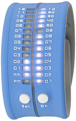 REFLEX Blue Slap Silicone Watch LED Digital Display Unisex PD0019 Blue