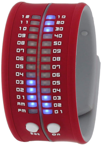REFLEX Red Cardinal Slap Silicone Watch LED Digital Display Unsiex PD0019 Cardinal