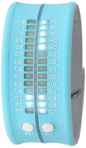 REFLEX Sky Blue Slap Silicone Watch LED Digital Display Unisex PD0019 Sky