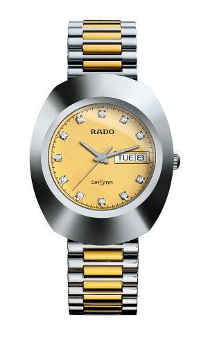 RADO The Original Crystal Markers Champagne Dial Two-Tone Men's Watch R12391633