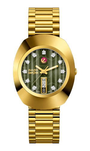 RADO The Original Automatic Green Dial Gold PVD Stainless Steel Men's Watch R12413533