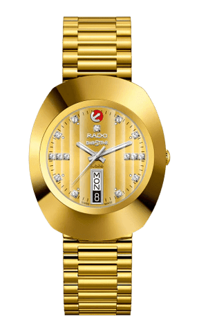 RADO The Original Automatic 15 Diamonds Yellow Gold PVD Men's Watch R12413703