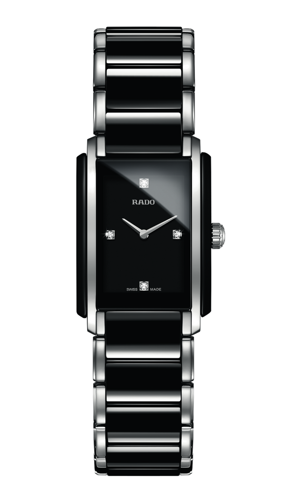 RADO Integral Diamonds 22.7mm Ceramic-Stainless Steel Black Women's Watch R20613712