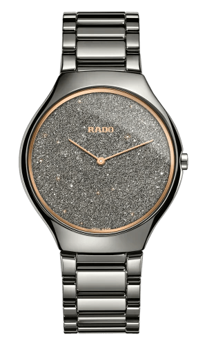 RADO True Thinline Grey Plasma High-Tech Ceramic Women's Watch R27010102
