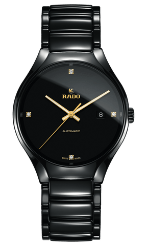 RADO True Automatic Diamonds 40mm Black Ceramic Men's Watch R27056712