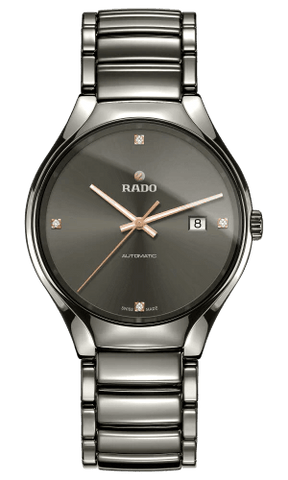 RADO True Automatic Diamonds 40mm Grey Dial Plasma High-Tech Ceramic Men's Watch R27057712