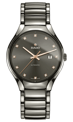 RADO True Automatic Diamonds 40mm Grey Dial Plasma High-Tech Ceramic Men's Watch R27057732