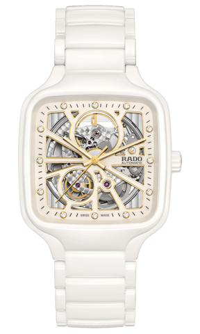 RADO True Square Automatic Open Heart White Ceramic Unisex Watch R27073702