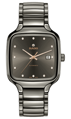 RADO True Square Automatic Diamonds Gunmetal Ceramic Men's Watch R27077702