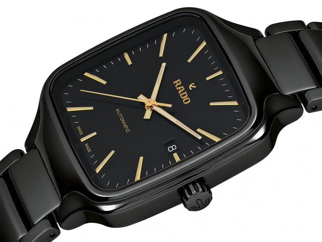 RADO True Square Automatic Black Ceramic Men's Watch R27078162