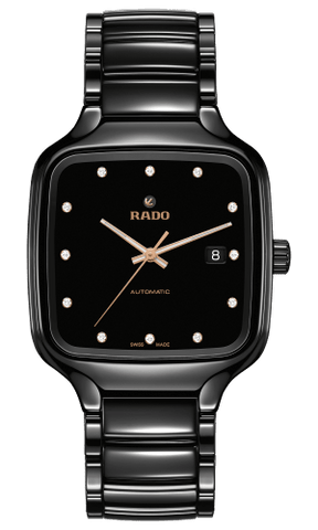RADO True Square Automatic Diamonds Black Ceramic Men's Watch R27078702