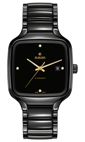 RADO True Square Automatic Diamonds Black Ceramic Men's Watch R27078722