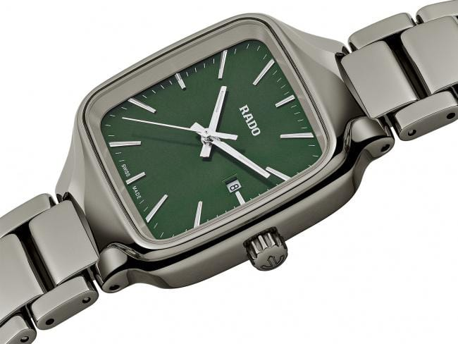 RADO True Square Green Dial Plasma Ceramic Women's Watch R27079312