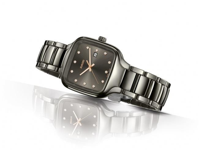 RADO True Square Diamonds Gunmetal Ceramic Women's Watch R27079702