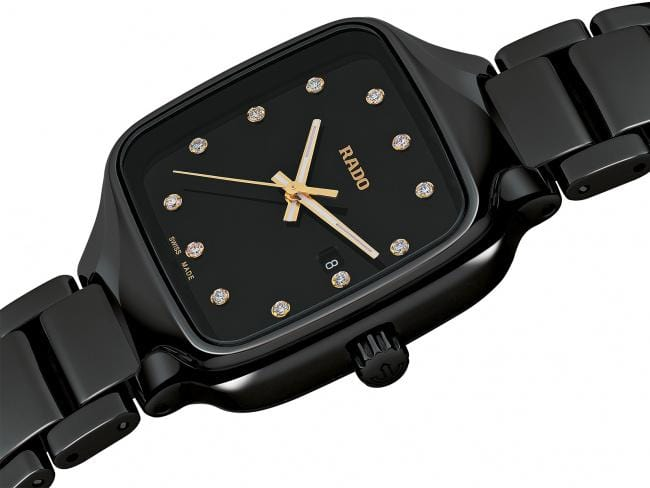 RADO True Square Diamonds Black Ceramic Women's Watch R27080702