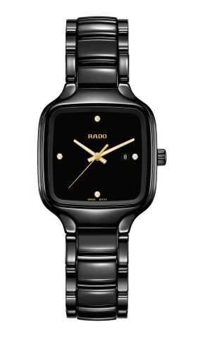 RADO True Square Diamonds Black Ceramic Women's Watch R27080722