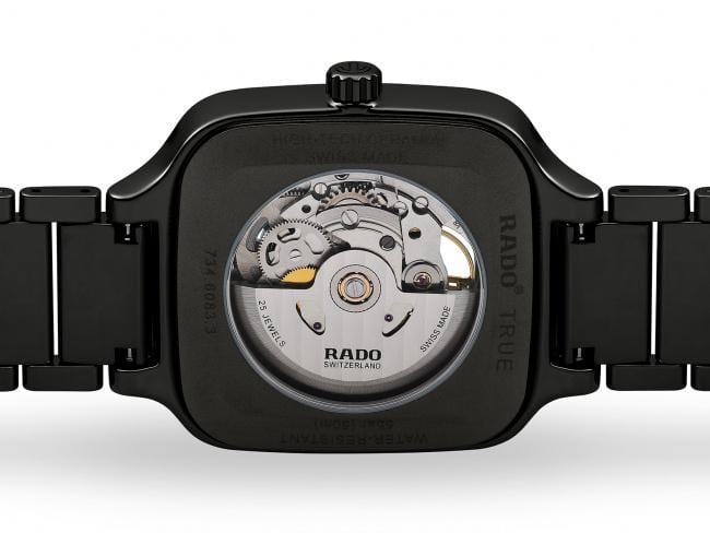 RADO True Square Automatic Open Heart Black Ceramic Men's Watch R27086162