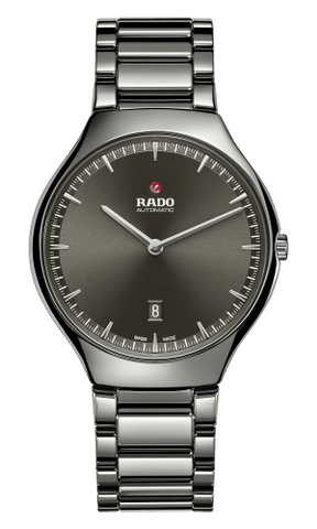 RADO True Thinline Automatic Grey Dial Plasma Ceramic Men's Watch R27088102