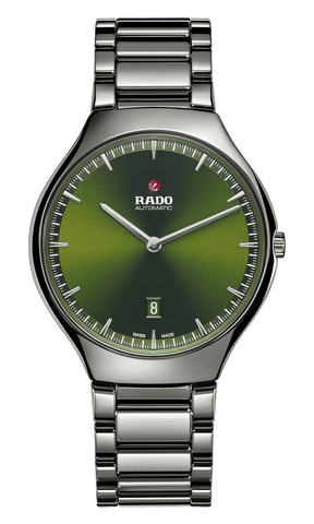 RADO True Thinline Automatic Green Dial Plasma Ceramic Men's Watch R27088312