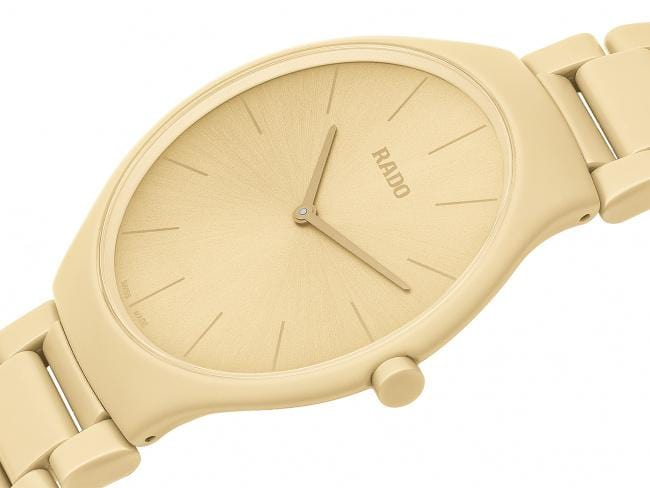 RADO True Thinline Cream White Les Couleurs Le Corbusier Unisex Watch R27090602