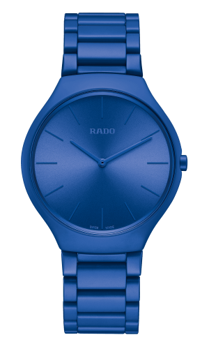 RADO True Thinline Deep Blue Ultramarine Les Couleurs Le Corbusier Unisex Watch R27092622