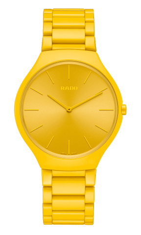 RADO True Thinline Yellow Les Couleurs Le Corbusier Unisex Watch R27093632