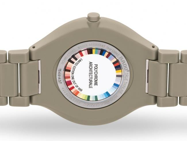 RADO True Thinline Grey Brown Les Couleurs Le Corbusier Unisex Watch R27098682