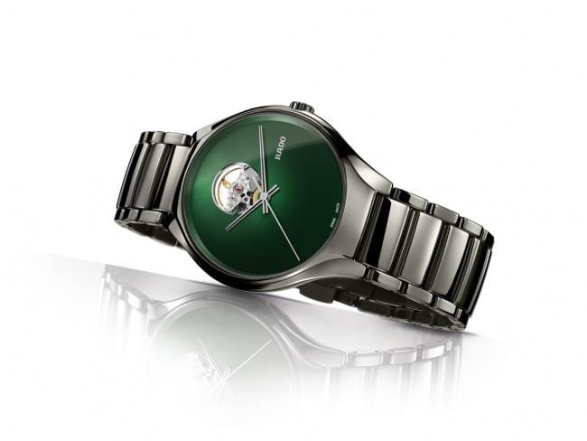 RADO True Secret Open Heart Green Dial Ceramic Unisex Watch R27108312